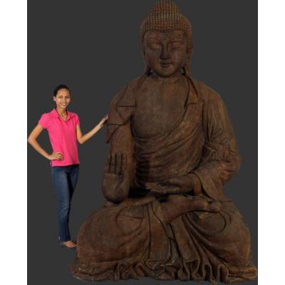 Bouddha géant pierre roche