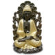 Bouddha assis or noir