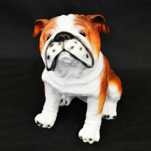 Bouledogue-résine chien resine nlc déco deco