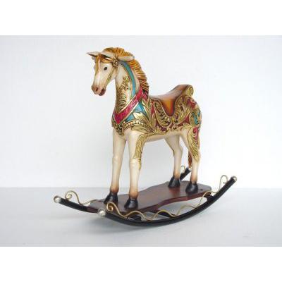 cheval bascule animaux figurines et d cors en r sine. Black Bedroom Furniture Sets. Home Design Ideas
