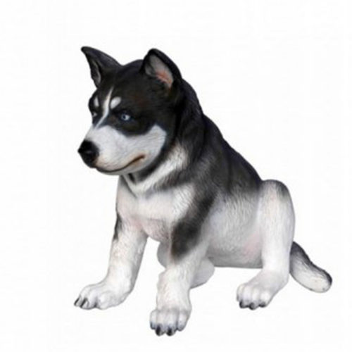 Chiot-Husky chien resine deco animaux déco nlcdeco deco nlc