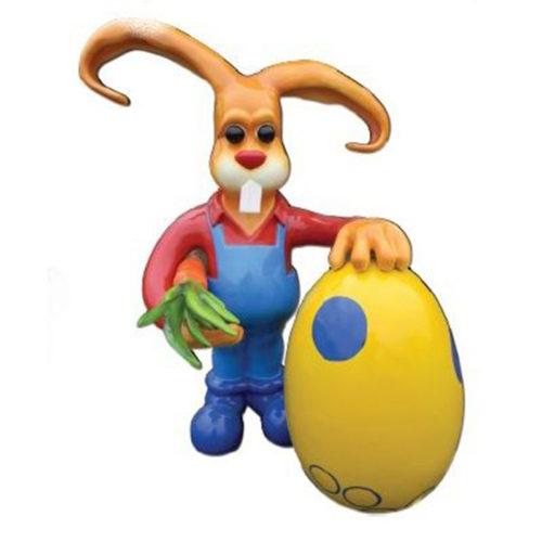 Lapin XXL œuf et carotte nlc déco NLCDECO paques