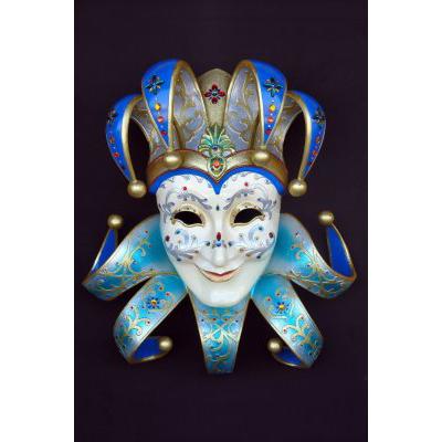 Masque vénitien bleu clair