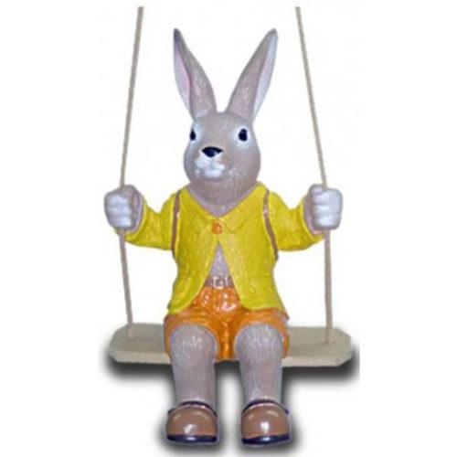 NLC Deco Grand choix sur le thème Pâques lapins, oeufs, figurines et de personnages en résine partout en france et en Europe lapin balencoire