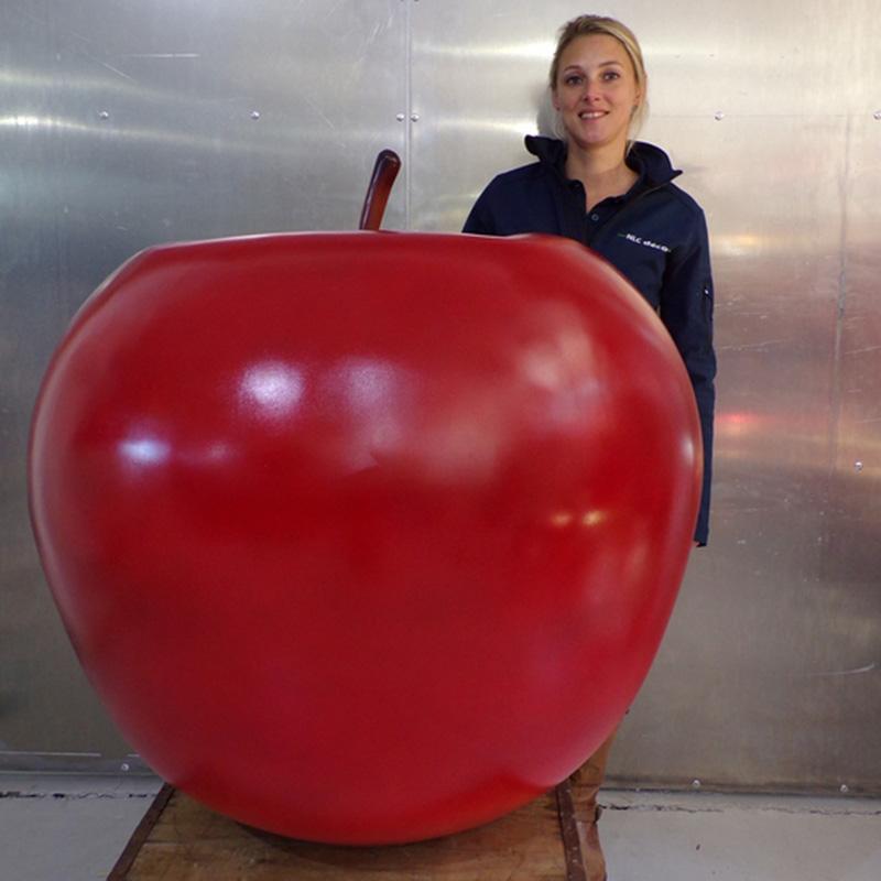 Pomme géante rouge   Fruits, fleurs, champignons, figurines et