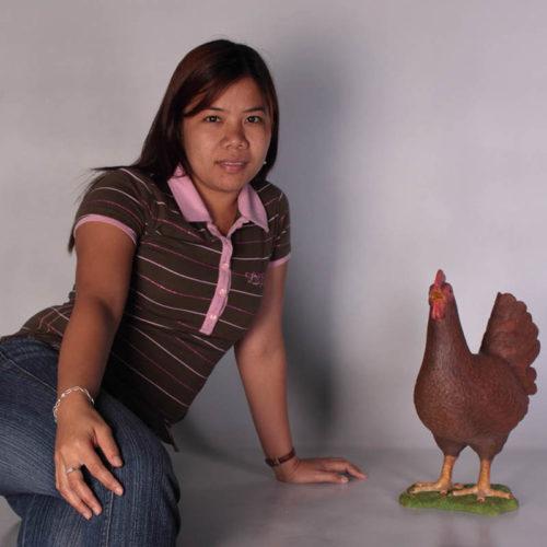 Poule brune rouge NLC DECO