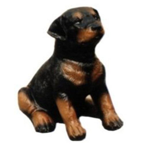 Rottweiler-chiot-assis chien resine nlcdeco déco