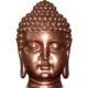 Tête de Bouddha cuivre