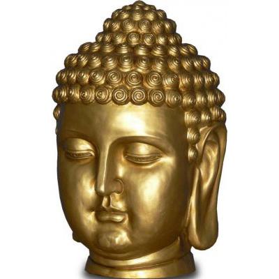 Tête de Bouddha or
