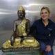 bouddha assis decoration en resine spirituel nlcdeco