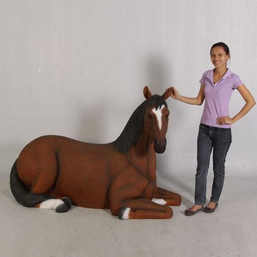 cheval couché 120059 nlcdeco nlc deco