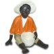Black garçon assis