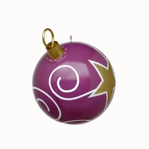 Boule à suspendre violette décoration noël nlcdeco
