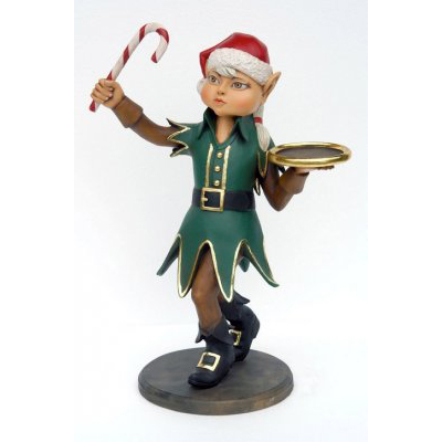Elfe fille avec tenue candy cane