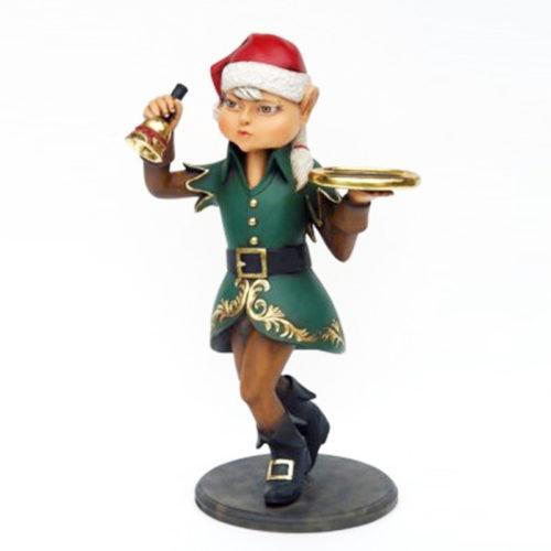 Elfe-fille-cloche nlc déco deco noel resine nlc