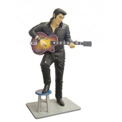 Elvis guitare et cuir