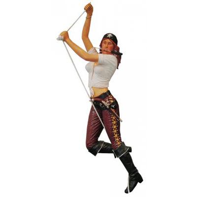 Femme pirate sur corde