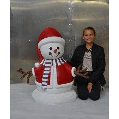 Bonhomme de neige fille statues personnage animaux et d cors - Bonhomme fille ...