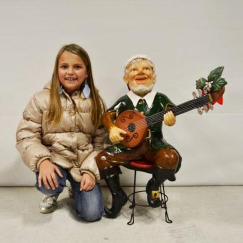 Lutin-guitare nlc deco déco noel nlc resine