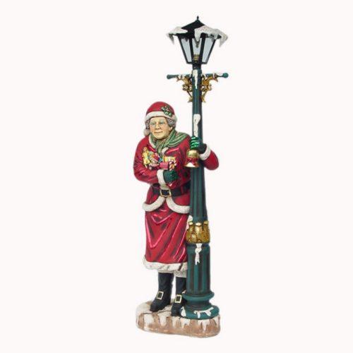 Mère noël lampadaire décoration mairie nlcdeco