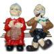 Papy et mamie sur banc