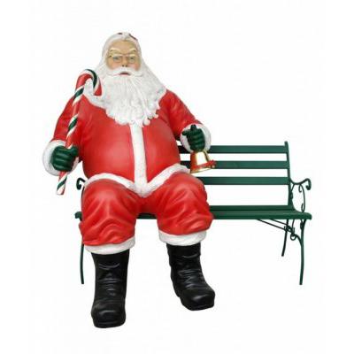 Père Noël sur banc