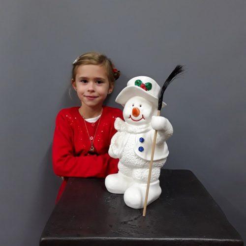 Petit bonhomme de neige en résine nlcdeco