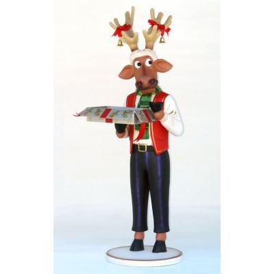 Renne rigolo boîte de Noël