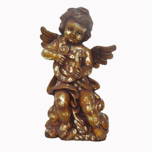 Statuette ange harpiste nlcdeco