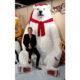 Ours blanc géant Noël