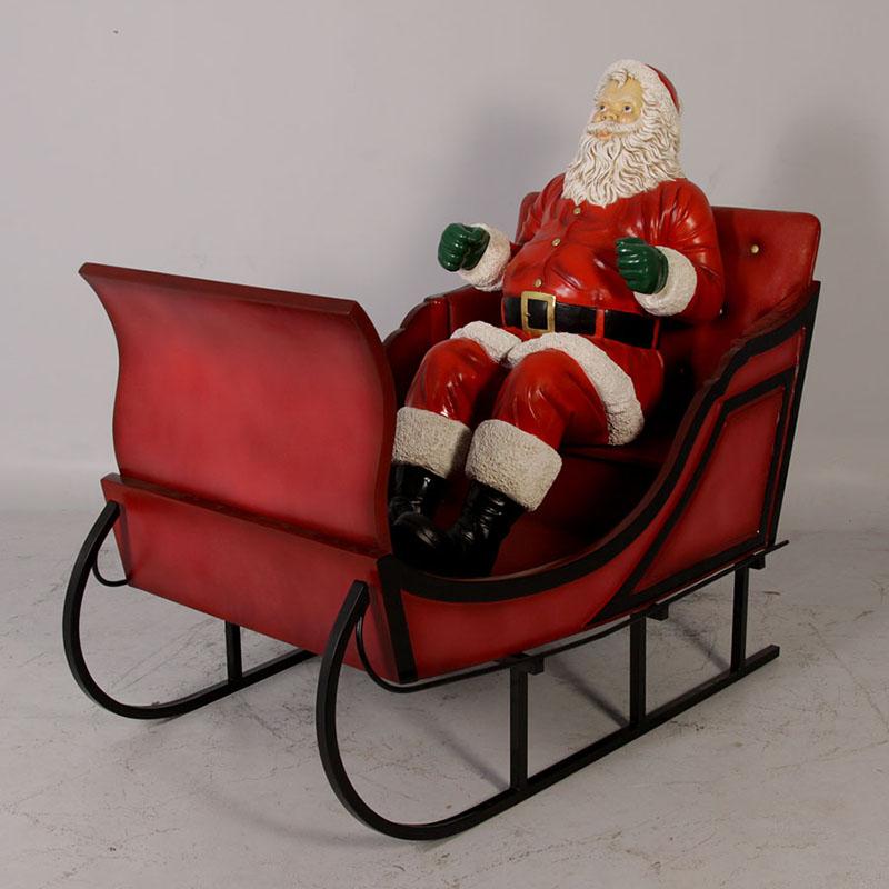 Pere Noel Assis Père Noël assis   Statues, personnage, animaux et décors en résine