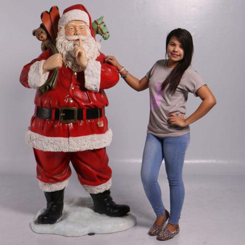 Père Noël et sac de jouets