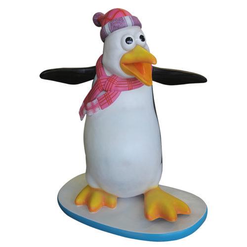 Pingouin Flipper sur socle