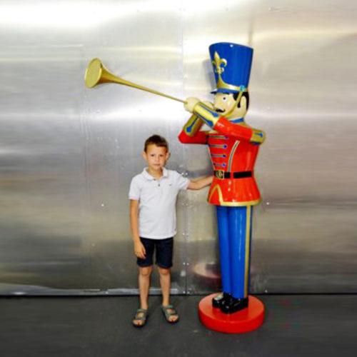 Soldat-jouet-trompette nlc deco noel resine déco