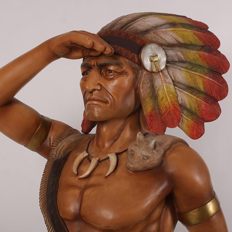 180055 indien nlc deco déco résine resine cowboy (1)
