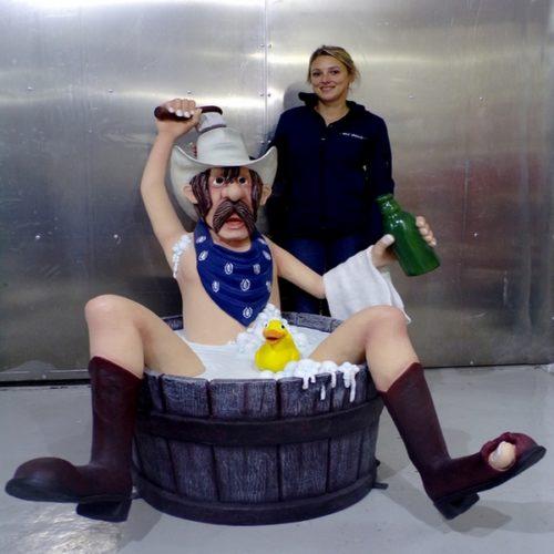 Cow Boy bain humoristique