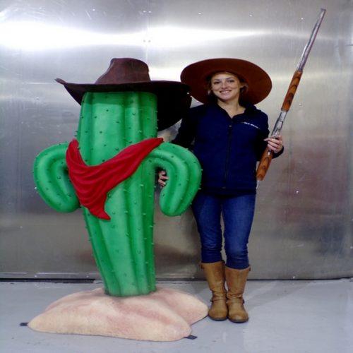Cactus cow boy humoristique