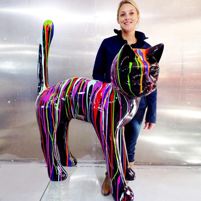 chat-géant-en-résine-couleur-trash-design nlcdeco