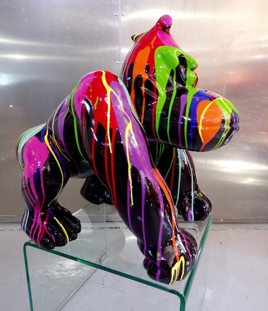 gorille peint animaux design couleur