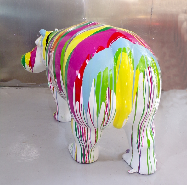 hippopotame couleur trash design animaux couleur