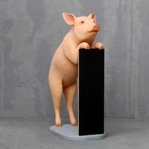 cochon porte menu décor restaurant