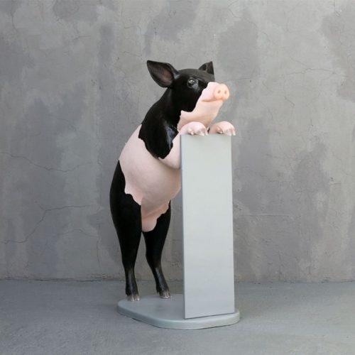 cochon porte menu décoration boucherie