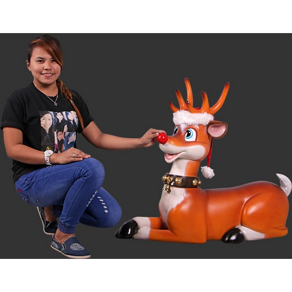 renne rigolo couch statues personnage animaux et d cors en r sine. Black Bedroom Furniture Sets. Home Design Ideas