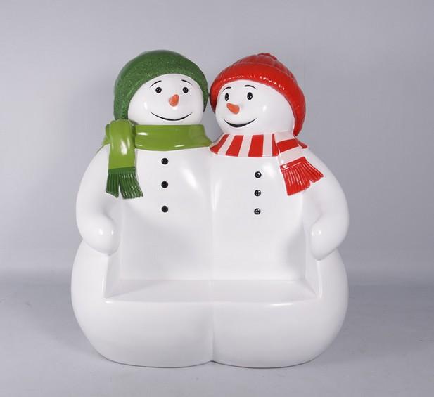 bonhommes de neige banc statues personnage en r sine. Black Bedroom Furniture Sets. Home Design Ideas