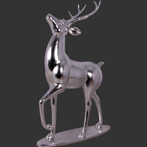 renne couleur argent décor Noël