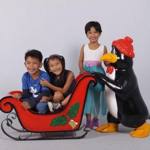 traineau et pingouin décor Noël