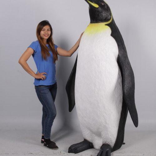 nv pingouin géant décor noel