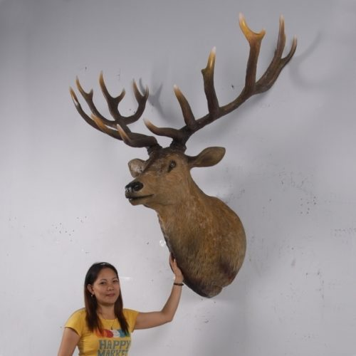 trophée de cerf massacre grandeur nature