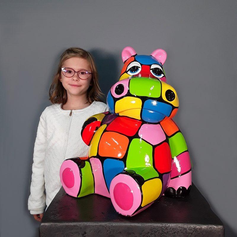 Hippopotame coloré nlcdeco