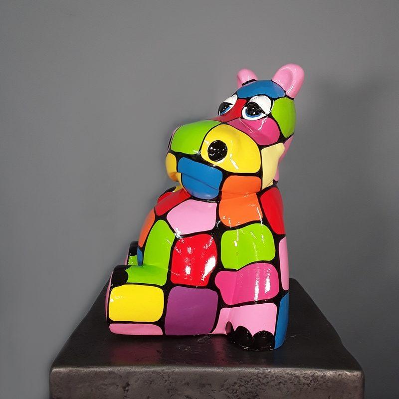Hippopotame design coloré nlcdeco
